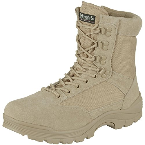 Mil-Tec Tactical Side Zip Stivali Khaki Taglia 8 UK / 9 US
