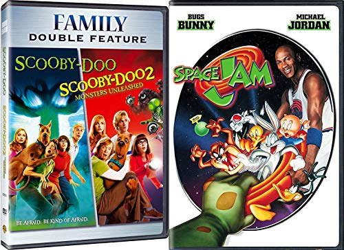 Animated Action Kids Scooby-Doo / Space Jam & Monsters Unleashed Bear Triple Feature Family 3 Movie Bundle