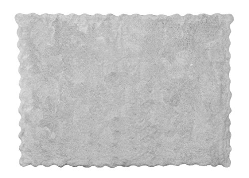 Aratextil Lisa Alfombra Infantil, Algodón, Gris, 120x160 cm