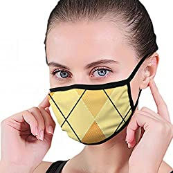 Orange Argyle illustrationen Clip Art Maske halbes Gesicht Mund-muffel Mode Motorrad Anti Staub kostüm Mode Maske