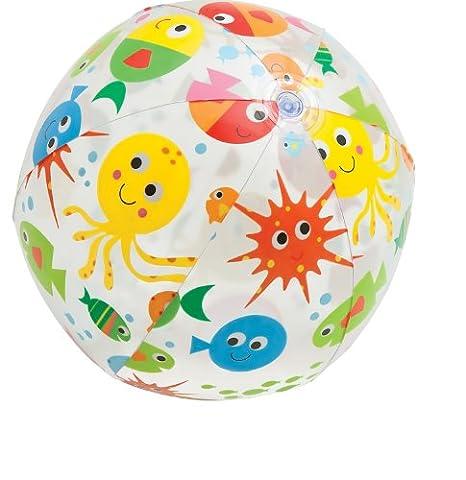 Wasserball, Durchmesser ca. 51 cm in 3 verschiedenen Designvarianten: Sterne, Blumen und Fisch