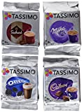 Tassimo T Discos Pods: Chocolate caliente unidades-Milka, Cadbury y Suchard, 32Cápsulas
