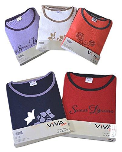 VIVA living - Ensemble de pyjama - Manches Longues - Femme Violet - Purple - Purple