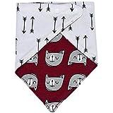 Koly Lindo babero de bebé Baby impermeable toalla de la saliva, triángulo baberos (Blanco)