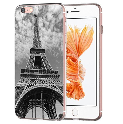 blitzversand Handyhülle Boutique Paris kompatibel für Samsung Galaxy S7 Eifelturm Black Schutz Hülle Case Bumper transparent M5