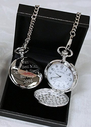 Lucy G Engraved Personalised Pocket Watch in