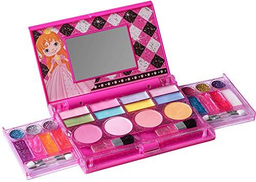 Playkidz: Meine erste Prinzessin-Make-up-Brust, All-In-One-Kosmetik für Mädchen und echte Make-up-Palette mit Spiegel (waschbar)