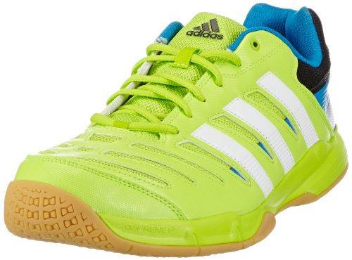 adidas Essence 10.1, Scarpe da pallamano uomo, Verde (Grün (solar slime/solar blue s14/running white)), 40 2/3