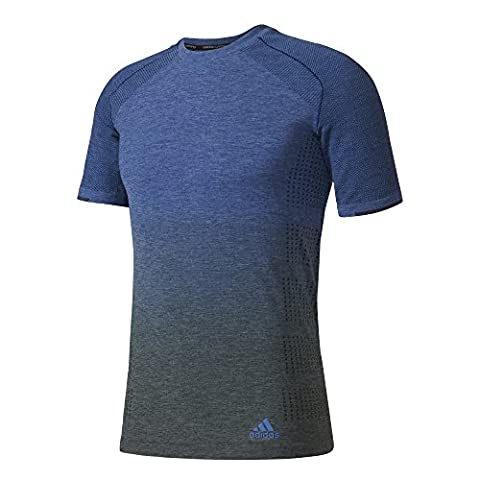 Adidas Men's P Knit DD T-Shirt, Blue/Azumis/Griuti, Small