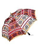 Famacart Cottom Umbrella Embroidered Umb...
