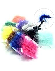 Sam de 10cartes de pêche hareline Dubbin UV Chenille polaire uniquement populaire couleurs Pêche à la mouche attacher Matière polaire en tissu chenille