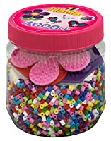 Hama Beads and Pegboards in Tub (Pink)