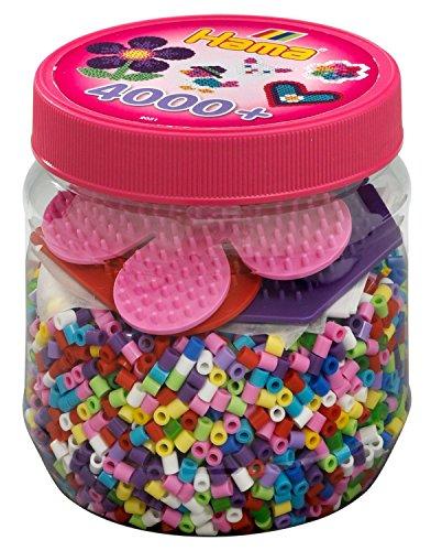 Hama 2051 - Bügelperlen Dose, ca. 4000 Perlen und Zubehör -