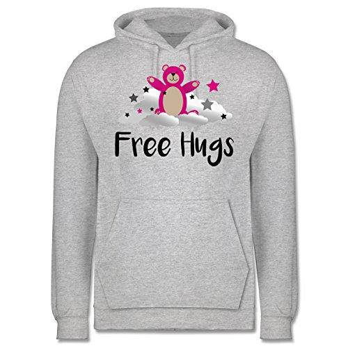 Comic Shirts - Free hugs - Männer Premium Kapuzenpullover / Hoodie Grau Meliert