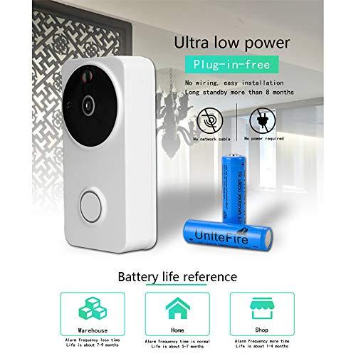 KAIDILA Drahtlose Video Türklingel Smart Wi-Fi Türklingel Ultra Low Power Verbrauch 1280 p Hd Kamera in Echtzeit Zwei-Wege-Audio-Nig HT-Vision-Bewegungserkennung Einbrecher (Halloween Transformatoren)