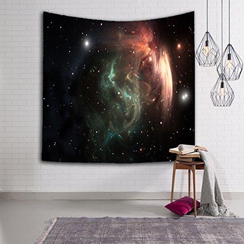 Galaxy Tapestries Sterne Cluster Weltraum Dekoration Wandbehang Universum Milchstraße Home Decor Yoga Badetuch (Sterne-kissen Dekoratives)