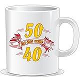 getshirts - RAHMENLOS® Geschenke - Tasse - Fun - 50 ist das neue 40 - uni uni