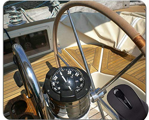 Kompass-Mausunterlage Personalisierte, technische Bauplan Kompass-Segelschiff-Gummi-Mausunterlage