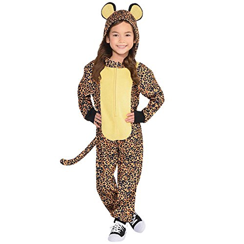 Leopard Kids Fancy Dress Safari Zoo Animal Book Day Girls Boys Childs Costume (Age 6-8 (Mädchen Little Kostüme Leopard)