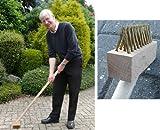 i.LifeUK Fugenbürste, mit langem Griff, zur Reinigung von gepflasterten Wegen/Terrassenplatten, 1,2m lang