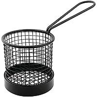 Olympia cl470 Mini cesta de la freidora con mango, color negro