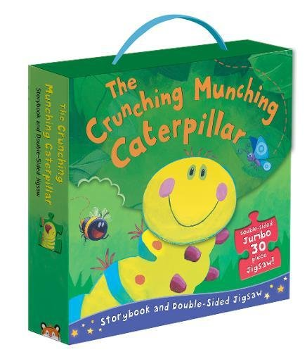 The Crunching Munching Caterpillar: Storybook and Double-Sided Jigsaw Cover Image