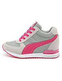 release date: 7e9f9 37c14 AONEGOLD® Zapatillas de Cuña para Mujer Zapatillas de Deporte Zapatillas  Altas Primavera Verano Tacón