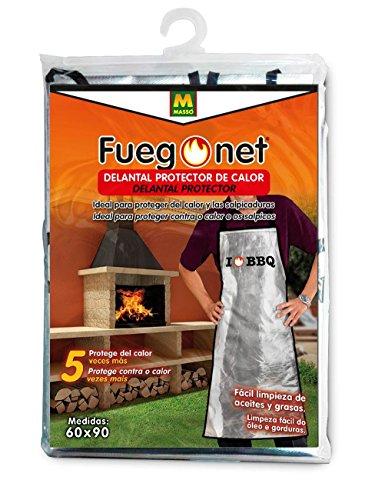 FuegoNet MOD. 231457 Grembiule di Protezione Anti Calore Dimensione 21x 33x 2 Colore Argento