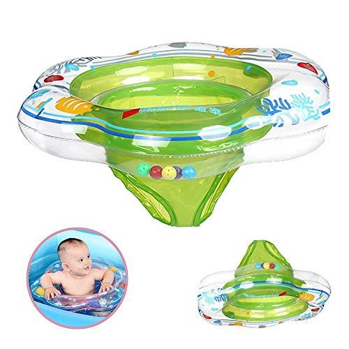 DAYPICKER Schwimmring mit Schwimmsitz, Baby Schwimmring mit PVC für Kleinkind Schwimmhilfe Spielzeug 6 Monaten bis 3 Jahren(Grün)