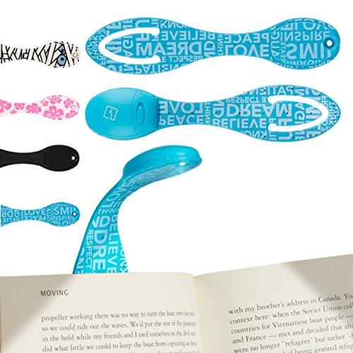 Lampada da Lettura Libro Letto LED – Luce del Libro Flessibile Clip On – Batterie Incluse - Regalo di Compleanno perfetto per gli amanti dei libri – Blu