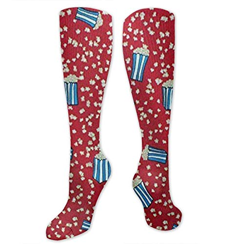 Gped Kniestrümpfe,Socken Circus Popped Popcorn On Red