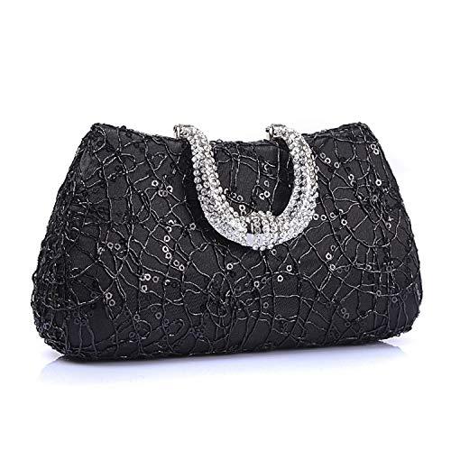 74e40bc8d ELEGENCE-Z Clutches Bolsa De Embrague Bag Bolso Diamante Cosméticos  Lentejuela Bolsillo Vestido De Noche