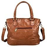 Vbiger Womens Zipper Shoulder Satchel Handbag Tote Bag (Camel)