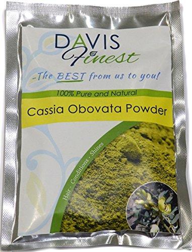 Cassia-Obovata-Pulver von Davis Finest,reiner, natürlicher Conditioner zur Haarverdickung und für starkes und glänzendes Haar, neutrales Henna-Haarfärbemittel für eine blonde Haar-Farbe, 100 g -