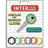 Interfer - Anilla marcar llaves redonda blister 6pzs