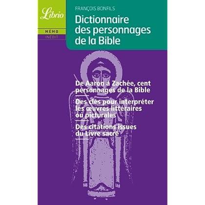 Dictionnaire des personnages de la Bible