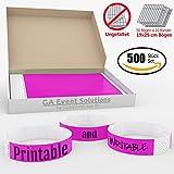 500 Eintrittsbänder aus Tyvek zum selbst gestalten und bedrucken in Pink von GA Event Solutions - Party Einlassbänder, Festival Armbänder für dein Event