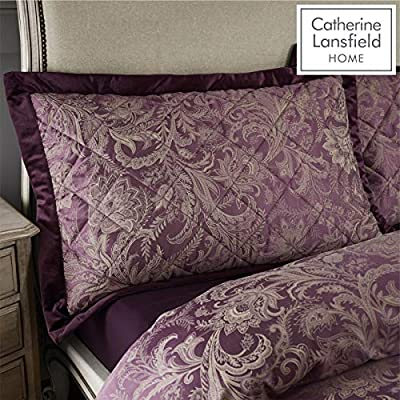 Catherine Lansfield Regal Jacquard Pillowsham Pair Plum