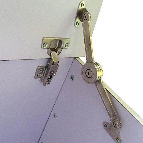 Redstone Weiß Ottomane Truhe Aufbewahrungsbox mit Deckel - Einzigartiges Verschlussscharnier -