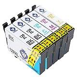 Tigtak Kompatibel Druckerpatronen Ersatz für Epson T1295 ( T1291 T1292 T1293 T1294 ) für Epson Stylus SX435W SX440 SX445W SX525WD SX535WD SX620FW Stylus Office B42WD BX305F BX305FW BX305FW Plus BX320FW BX525WD BX535WD BX625FWD BX635FWD Drucker (2 Groß Schwarz, 1 Blau, 1 Rot, 1 Gelb)