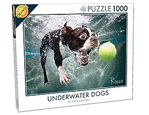 Cheatwell Games 28200 Underwater Dogs - Puzle Rompecabezas de Perros bajo el Agua (1000 Piezas), diseño Rocco
