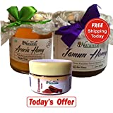 Farm Naturelle-Free Shipping Today-100% Raw Pure Un-processed Jamun Forest Honey (400 Gms) And Acacia Forest Honey...