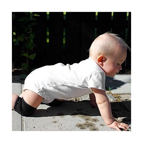 LeobooseToddler Kids Kneepad Protector Terry engrosado antideslizante Seguridad Rastreo Bebé Calentadores de piernas… 2
