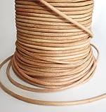 Auroris 10 m Rolle Lederband, rund Durchmesser 3 mm, natur