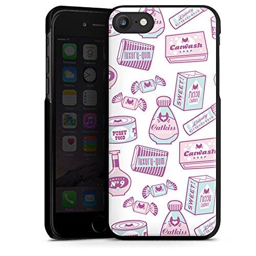 Apple iPhone X Silikon Hülle Case Schutzhülle Süßigkeiten Bonbons Muster Hard Case schwarz