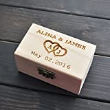 Easybuy india Rustic Wedding Ring Bearer Box, Personzed - Best Reviews Guide