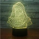 3D Veilleuses,Contrôle À Distance Dark Vador Casque 3D Night Light Illusion...