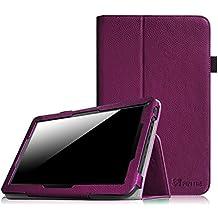 """Fintie Folio Case Funda Cascara Delgada con Soporte para iRULU eXpro X1s / eXpro X1 Plus / eXpro 1Plus Tablet (X1Plus) 10.1, WeVool NEMESIS - Tablet 10.1"""", Leotec LETAB1016 - Tablet de 10.1"""", JINYJIA E-SHOP 10"""" Pulgadas, Dragon Touch A1X Quad Core 10,1 Pulgadas Tablet, AcePad SuperPad XT2 10"""" Pulgadas Tablet, Tabexpress (10 Pulgadas) Tablet, Polatab Elite Q10.1"""", iStyle 2014 New 10.1"""" Pulgadas (Consulte más modelos de tablet compatibles en la Descripción), Púrpura"""