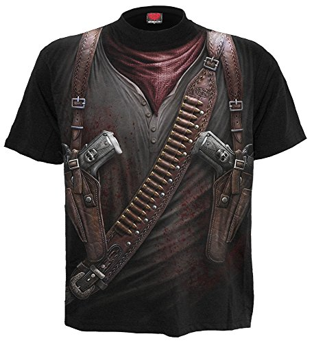 Spiral Herren T-Shirt Holster Wrap - Blk - WR146606 S