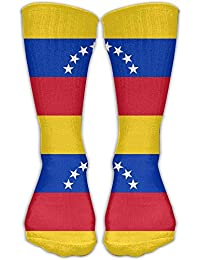 Venezuela Flag Knee High Socks For Mens Womens Adult Cotton Sports Long Socks For Yoga Hiking